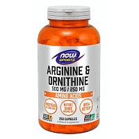 NOW Arginine Ornithine / 250капс